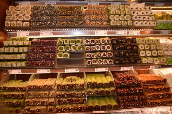 Utvalget av kaker i Istanbul er stort