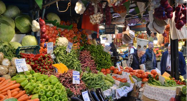 Grønnsaksmarked i Istanbul