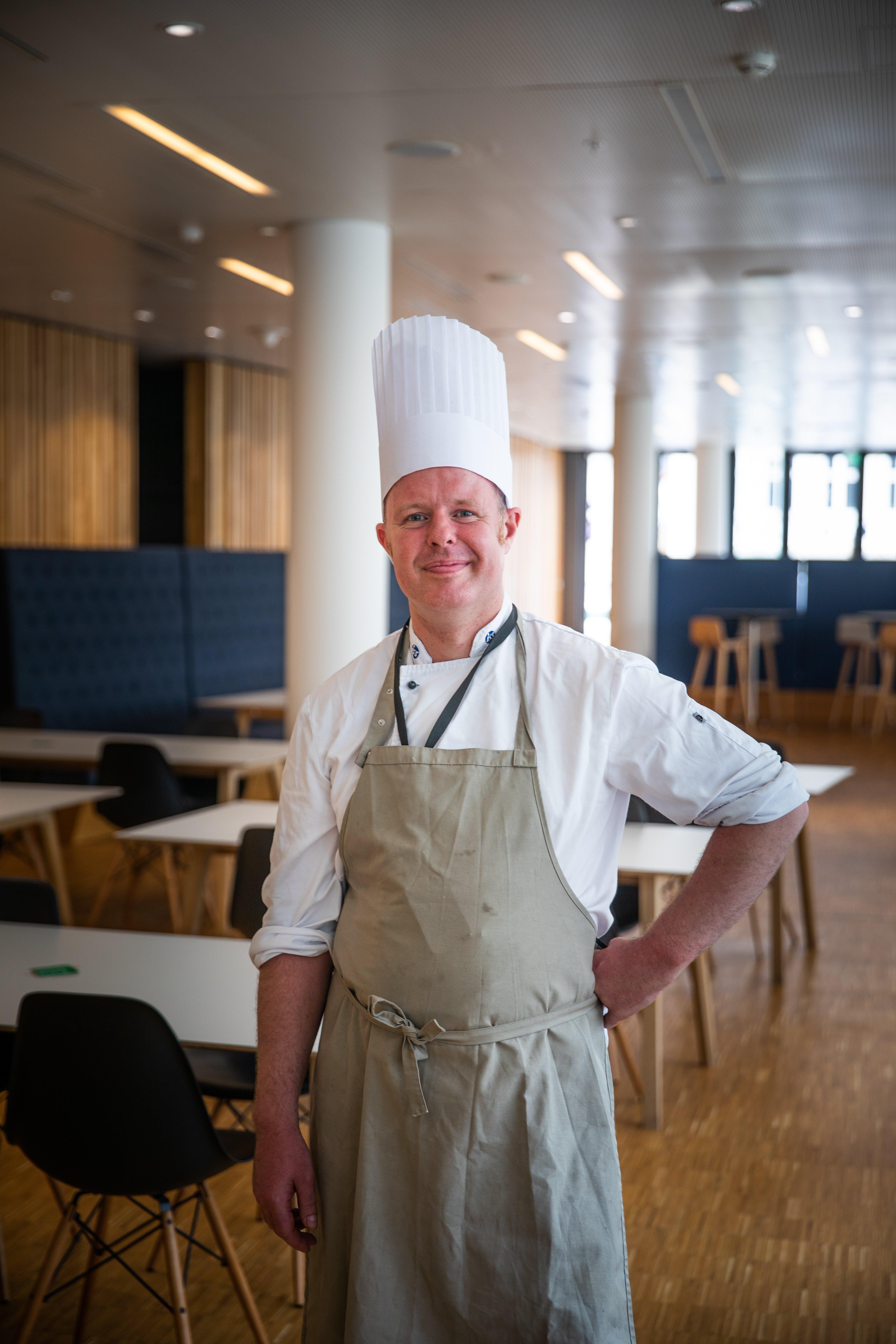 Månedens kokk: Sean Lackenby mener det er forskjell på norske og britiske ganer